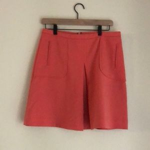 Anthropologie peach skirt with pockets!